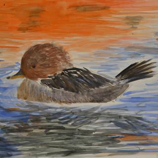 watercolour painting children art class