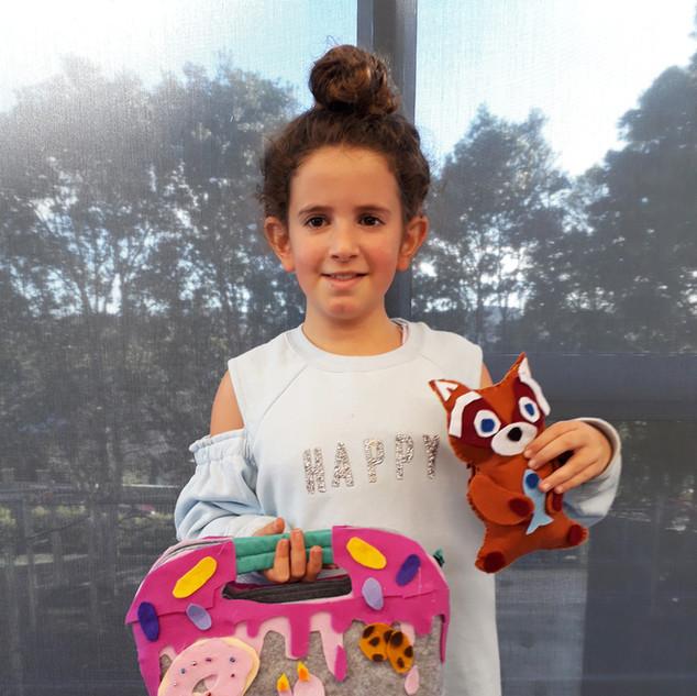 children sewing art holiday programme