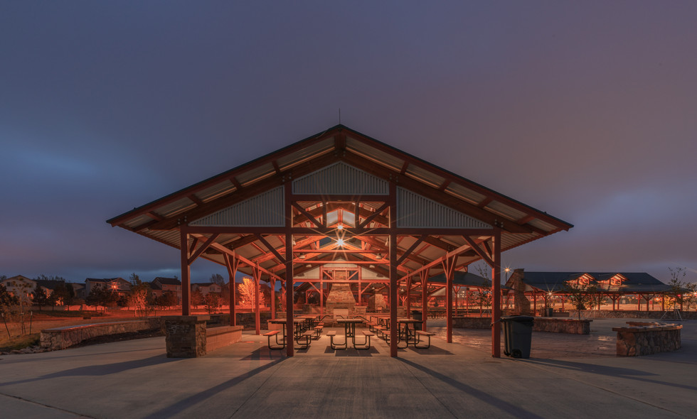 Park Pavilion at Night