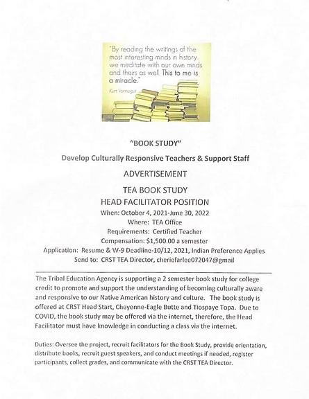 TEA Book Study - Advertisement for Head Facilitator Position.png