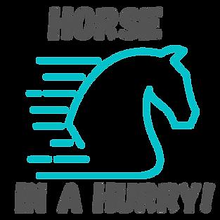 Horse In A Hurry - Transparent (1) - Cop