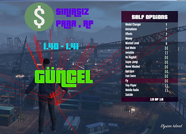 GTA 5   YENİ Para-Level-modmenu HİLESİ GÜNCEL