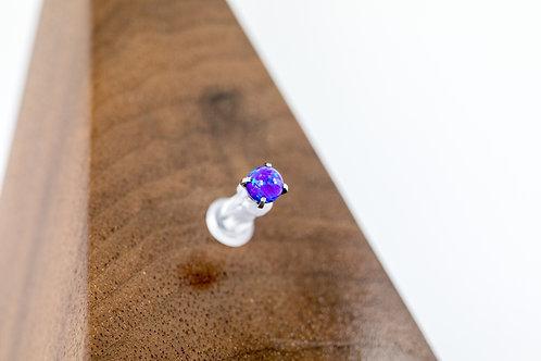 1.2 (16g) Prong Set Sleepy Lavender Opal Bead End