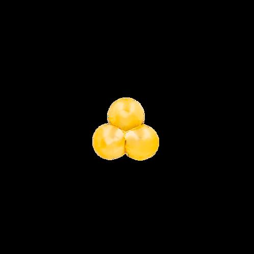 14k Gold Tri-Bead
