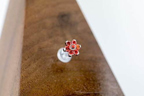 1.2 (16g) Red Queen CZ flower End