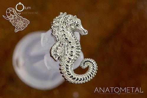 Anatometal 18k White Gold Seahorse