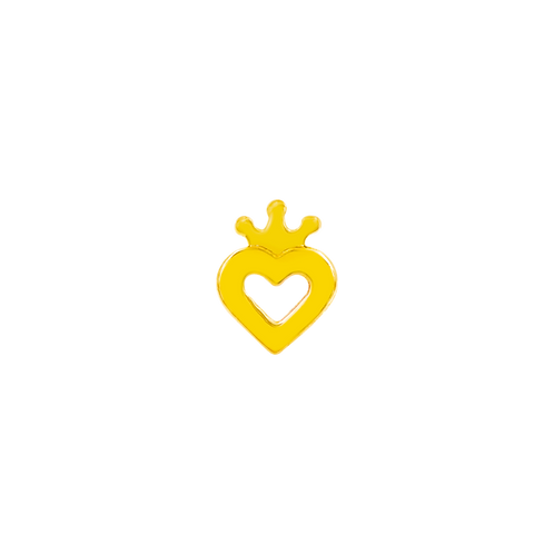 14k Gold Heart With Crown