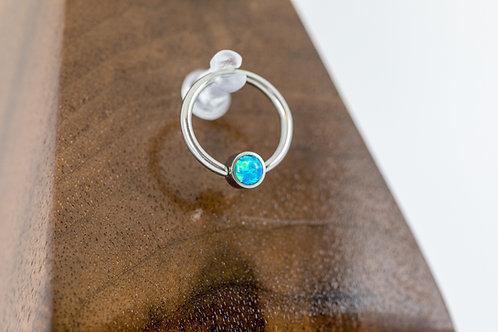 1.2 (16g) Peacock Blue Opal Bead Captive Ring