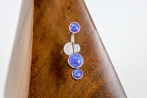 Industrial Strength 'Gemini' Cabochon Opal Navel Curve - Sleepy Lavender