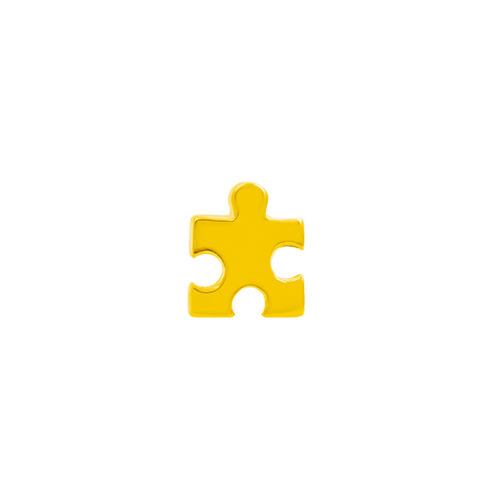 14k Gold Puzzle Piece