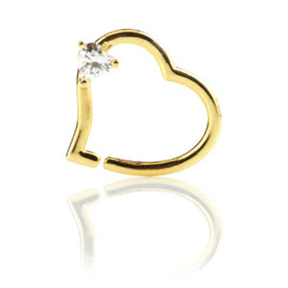 14ct Yellow Gold Gem Heart Ring
