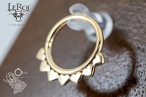 """14k Yellow Gold Seamless 16G Jiya Ring 3/8"""""""