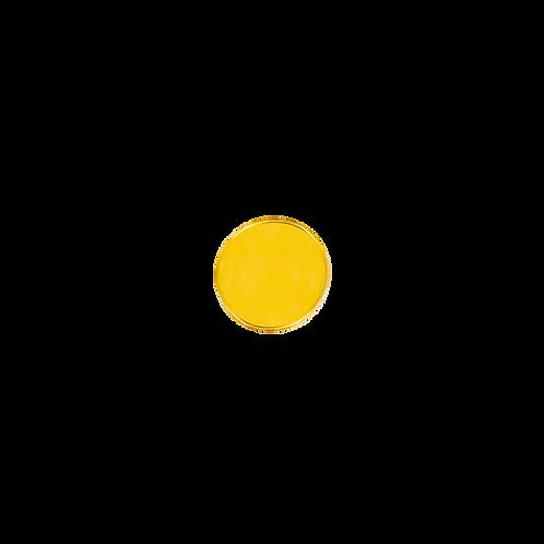 14k Gold Flat Disk