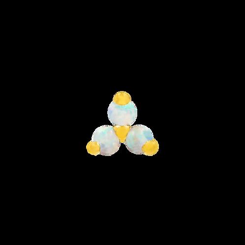 14k Gold Opal Trinity