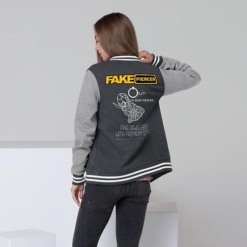 Women's Fake Piercer Letterman Jacket