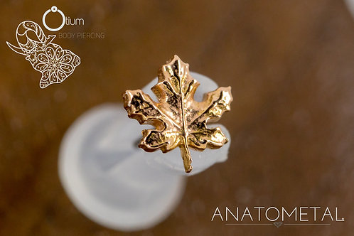 Anatometal 18k Rose Gold Maple Leaf