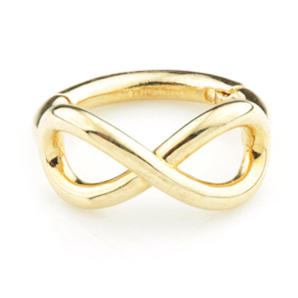 14k Gold Infinity Hinge Ring - 1.2x8mm