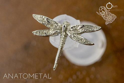 Anatometal 18k White Gold Dragonfly