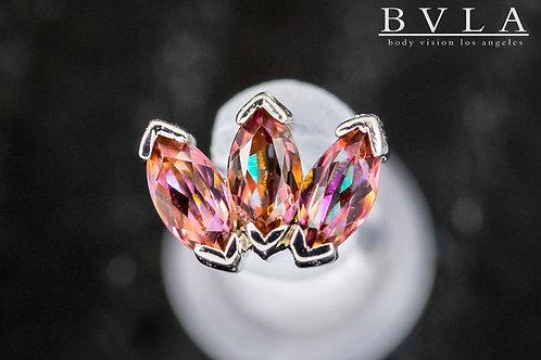 14k White Gold BVLA Marquise Fan - Push Pin - Anastasia Topaz Gemstones
