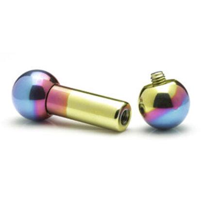 2g (6mm) Titanium Straight Barbell