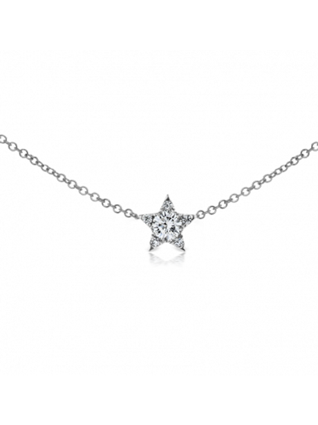 4.3mm Diamond Star Necklace