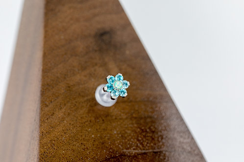 1.2 (16g) Forget Me Not Blue CZ Flower
