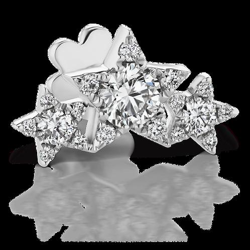 Diamond Three Star Garland Threaded Stud