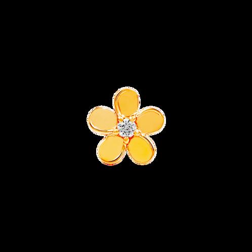 14k Gold Swarovski Gemstone Flower