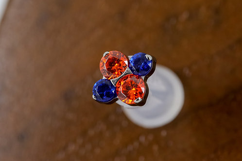 Industrial Strength 16g Threaded North Star with Swarovski - MIXED