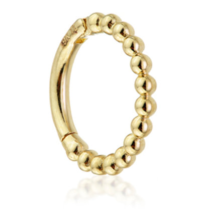 Gold Bubble Hinge Ring - 1.2x8mm