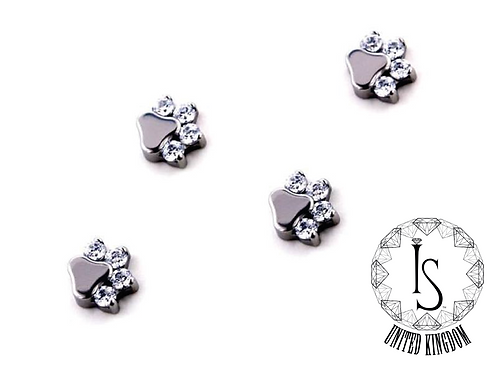 Custom Order Odyssey Faceted Paw Print