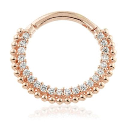 Rose Gold Pavé Gems Daith Septum Ring
