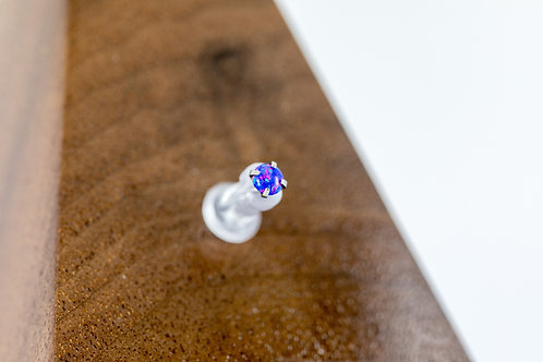 1.2 (16g) Prong Set Starry Night Opal End