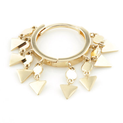 Gold Hanging Triangle Chains Hinge Ring