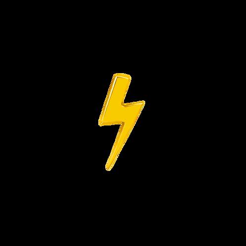 14k Gold Lightning Bolt