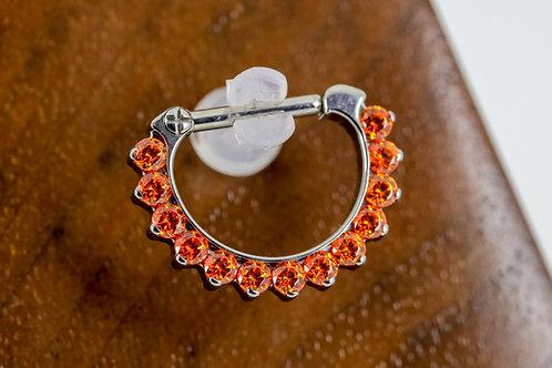 Industrial Strength Odyssey Septum Clicker #5 - Orange