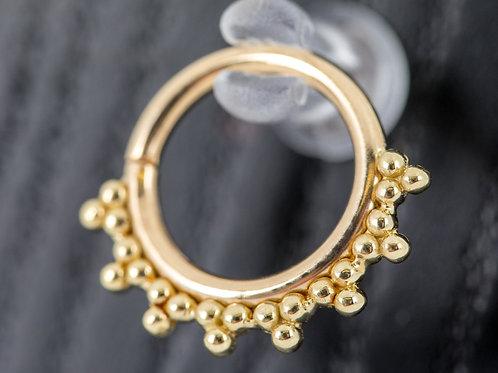 "14k Yellow Gold Seamless 16G Talia Ring 5/16"""