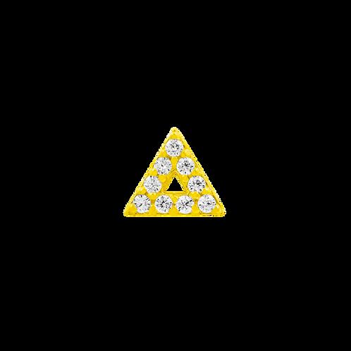 Gold Triangle with clear Swarovski Gemstones