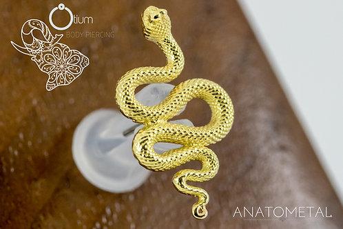 Anatometal 18k Yellow Gold Snake