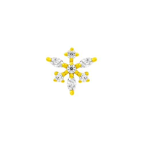 14k Gold Anna Snowflake with Swarovski Gemstones
