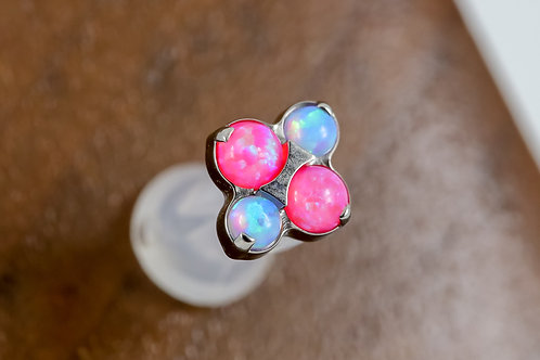 Industrial Strength 16g Threaded North Star with Opal - MIXED