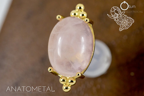 Anatometal 18k Yellow Gold Farata with Genuine Rose Quartz