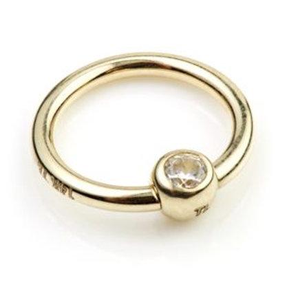 Tish Lyon 14ct Gold 1.2x10mm Captive Gemmed Ring