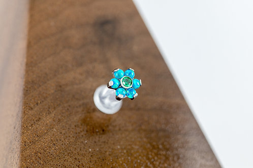 1.2 (16g) Sea Dream Opal & CZ Flower End