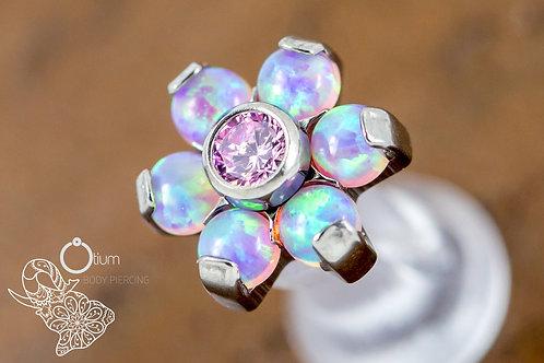 1.2 (16g) Angel Kiss Opal & CZ Flower End