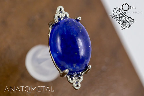 Anatometal 18k White Gold Farata with Genuine Lapis