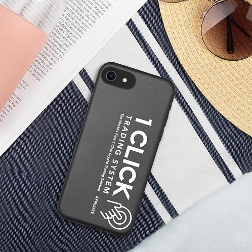 1 Click Biodegradable iPhone Case - White Logo
