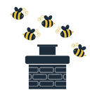 Bees in chimney icon