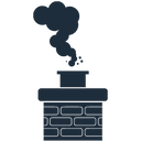 Chimney with smoke icon