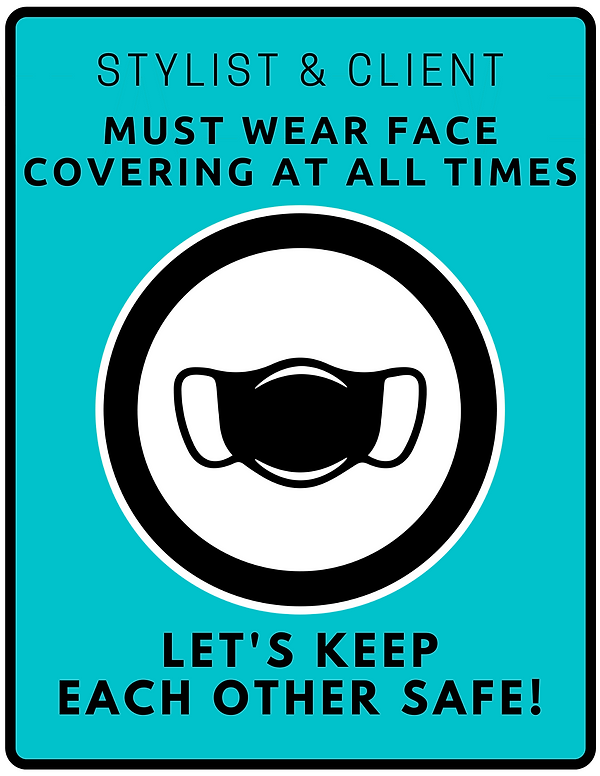 please wear face covering at all times.p